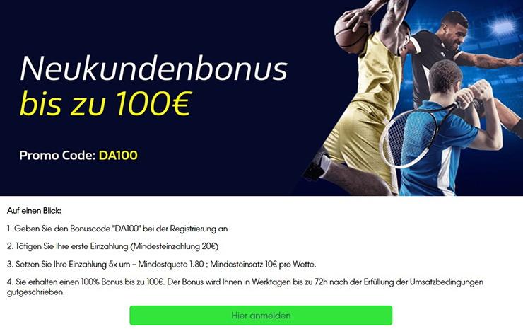 William Hill Bonus 2020 – bis zu 100€ für Neukunden